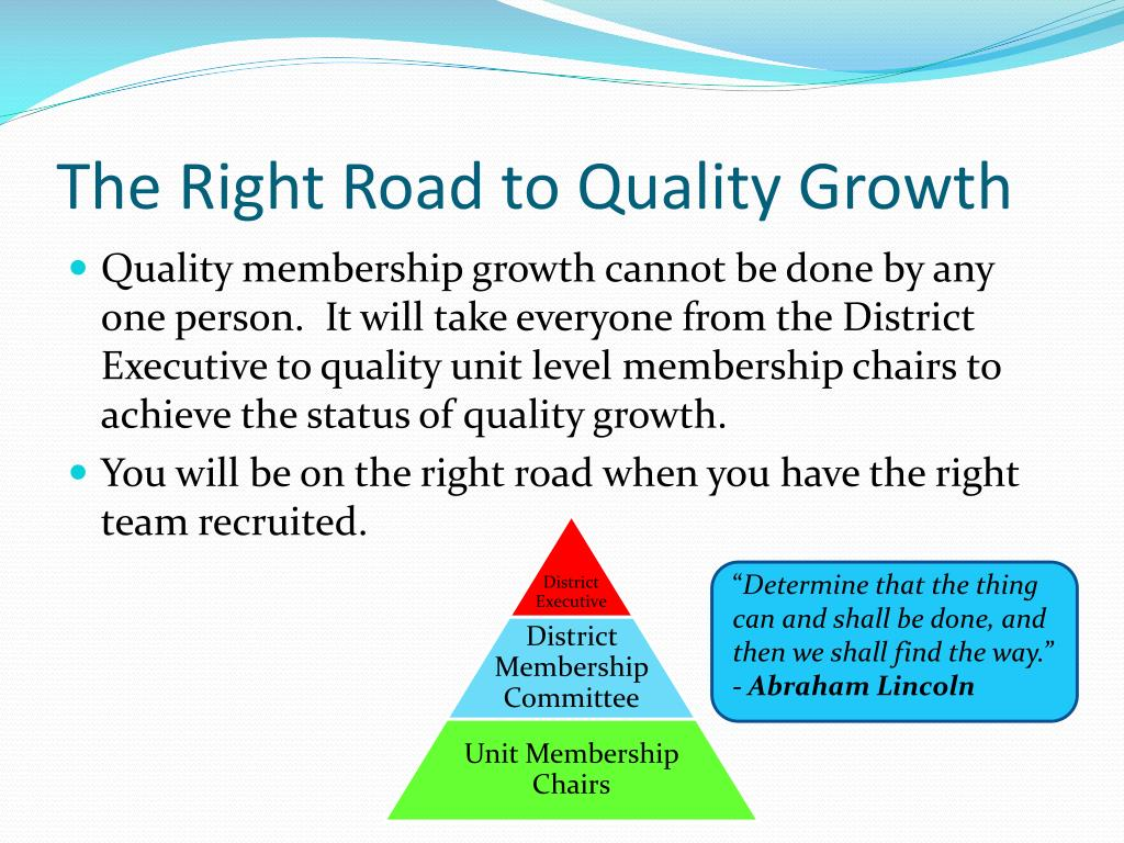 The Right Road to Quality Growth