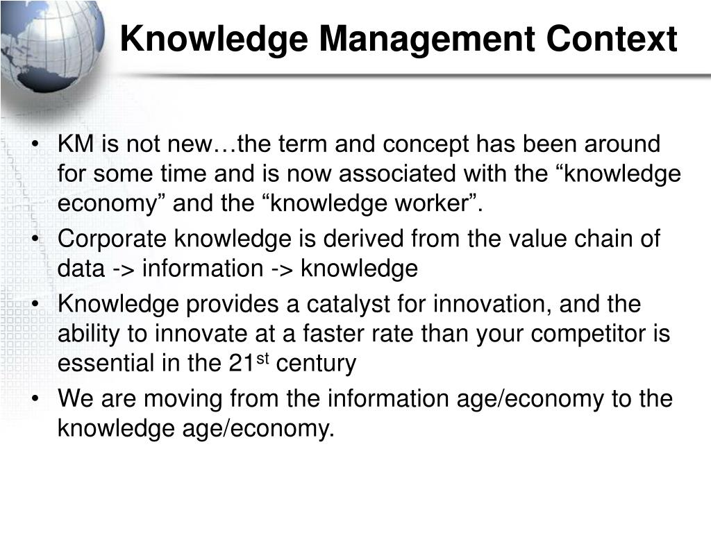 Knowledge Management Context