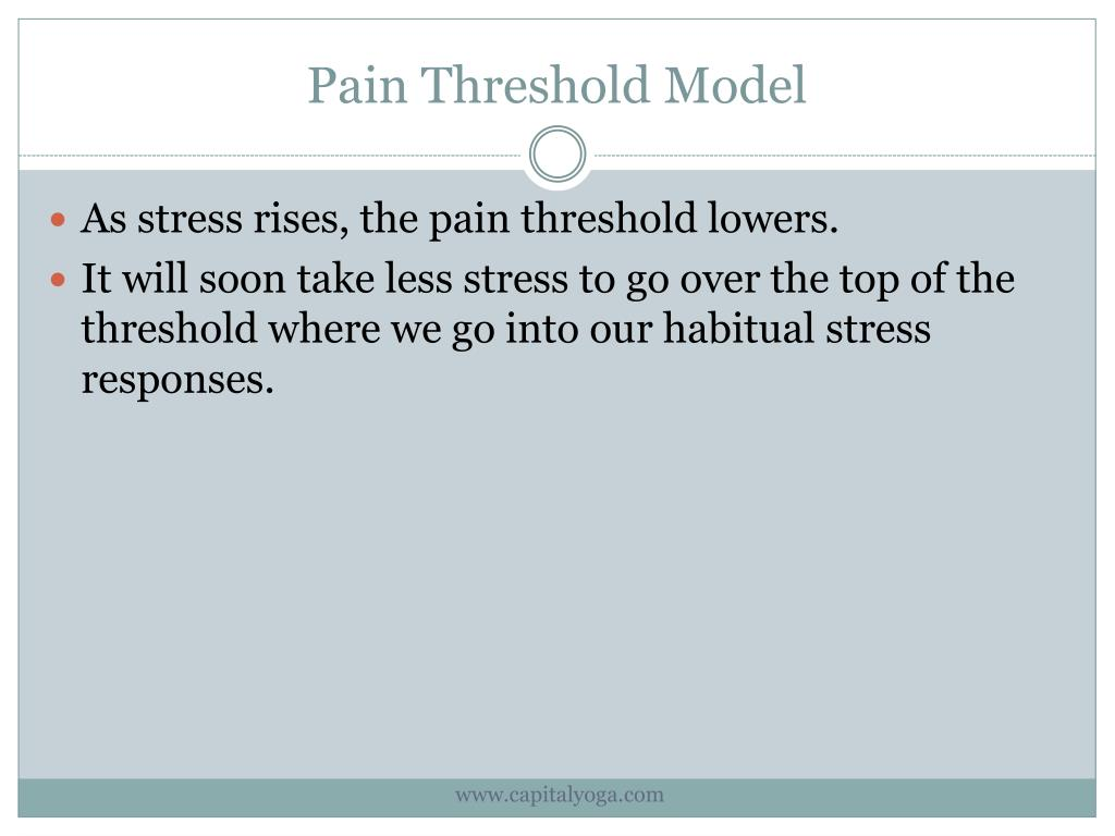 Pain Threshold Model