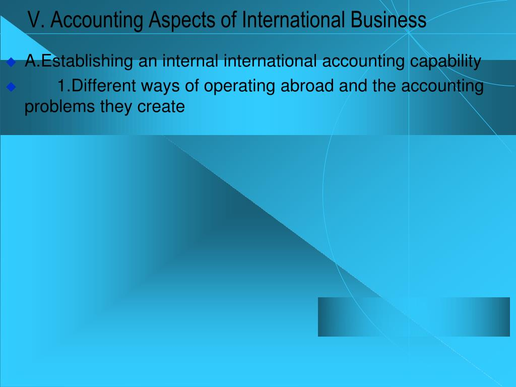 problems with international accounting multinational company Discuss the management problems facing multinational companies and companies with an international dimension in  an international company needs to understand the.