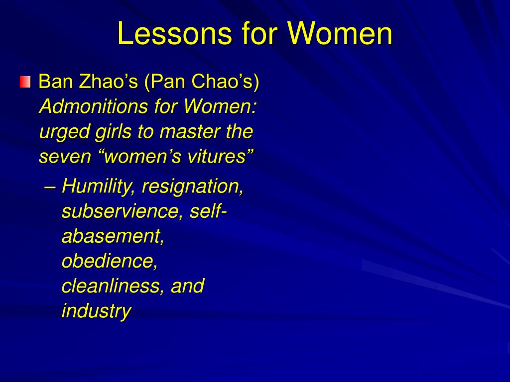 Lessons for Women