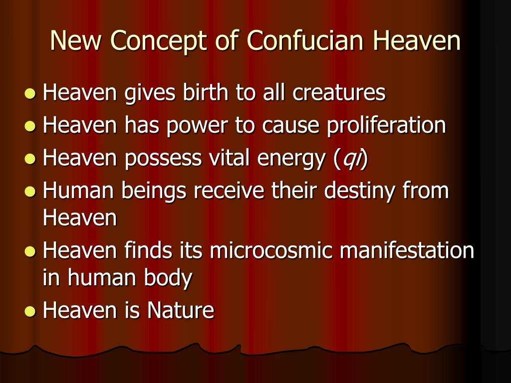 New Concept of Confucian Heaven