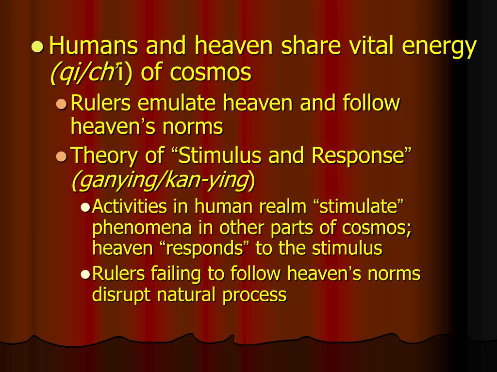 Humans and heaven share vital energy
