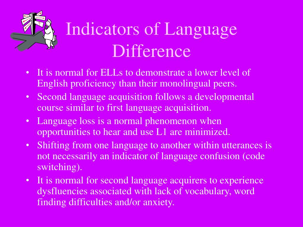 Indicators of Language Difference
