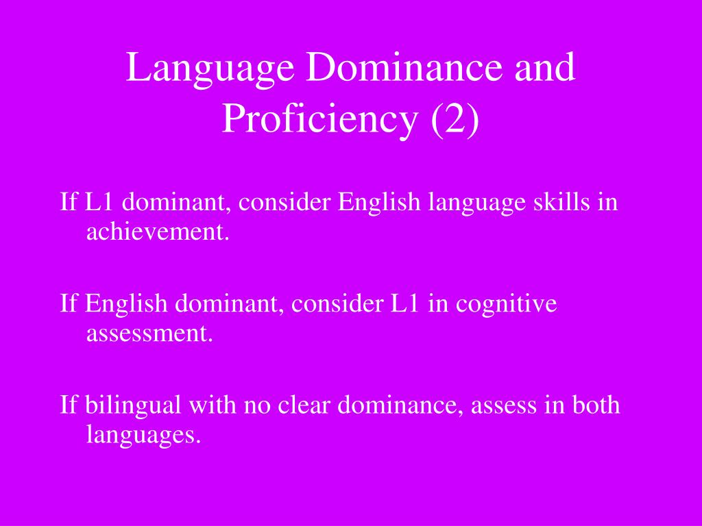 If L1 dominant, consider English language skills in achievement.