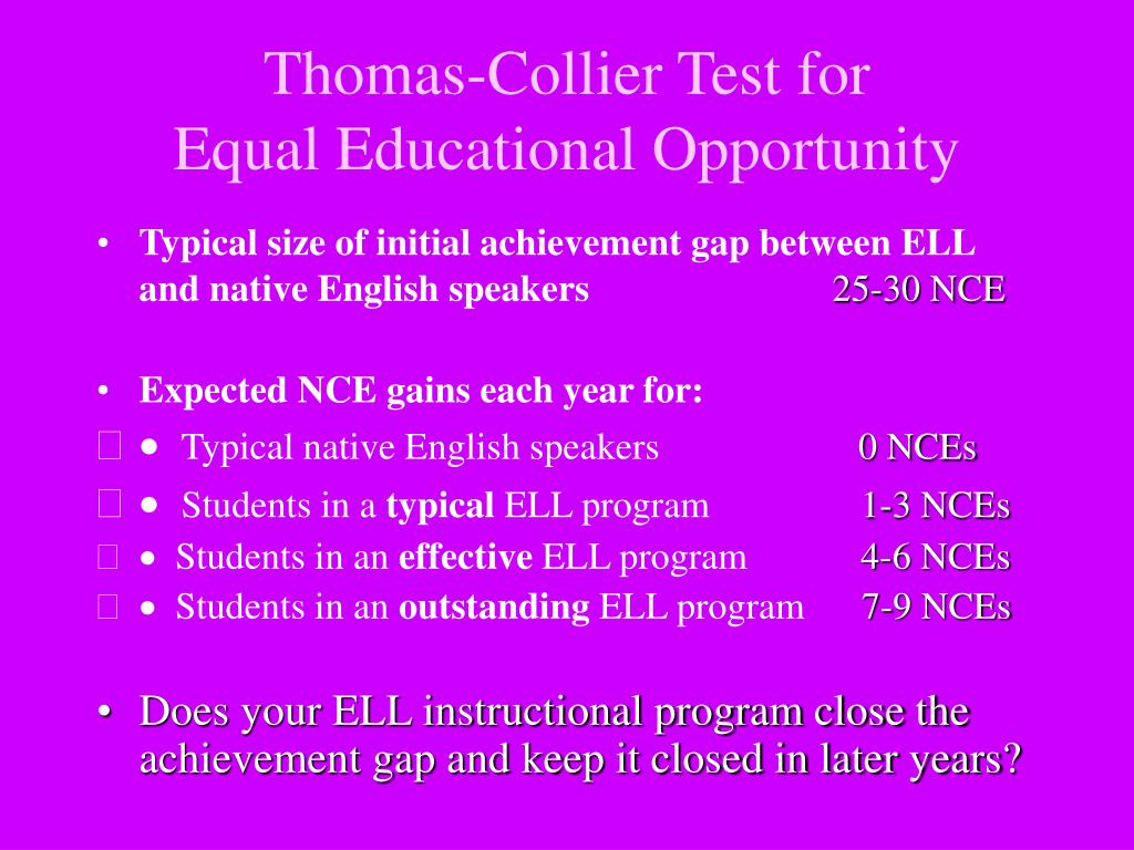 Thomas-Collier Test for