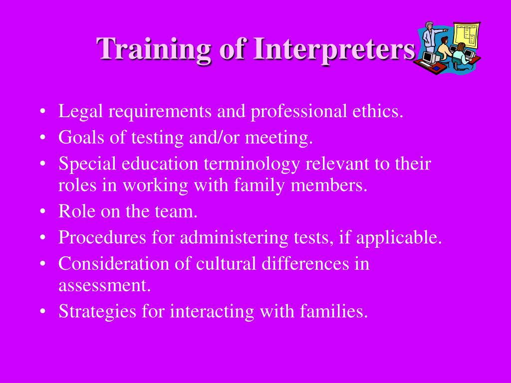 Training of Interpreters