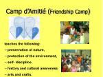 camp d amiti friendship camp