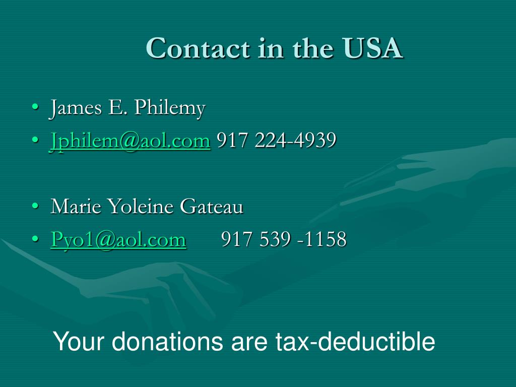 Contact in the USA