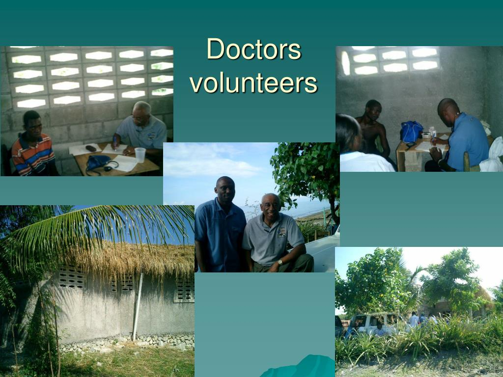 Doctors volunteers