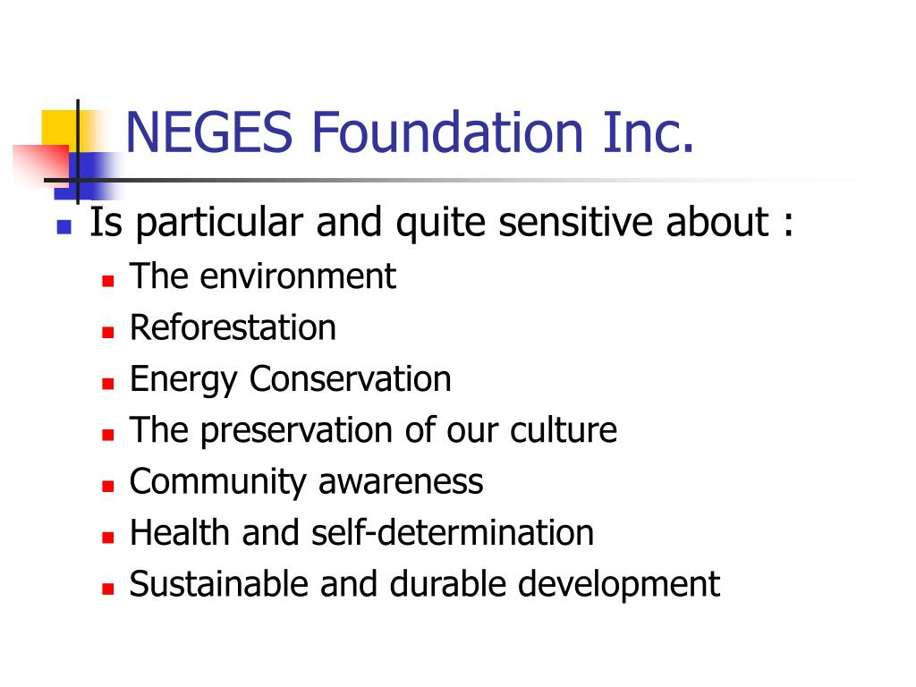 NEGES Foundation Inc.