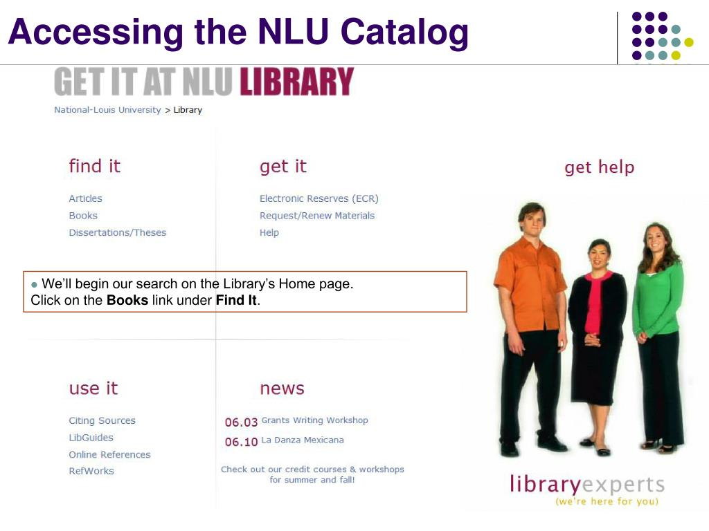 Accessing the NLU Catalog