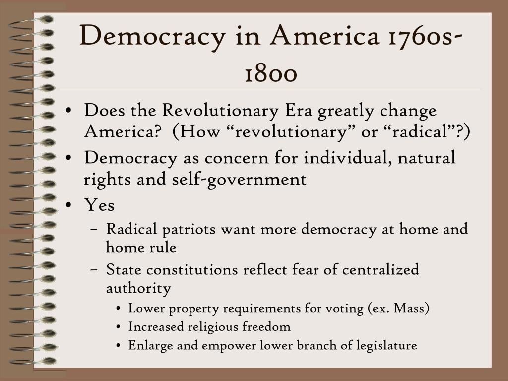 Democracy in america essay
