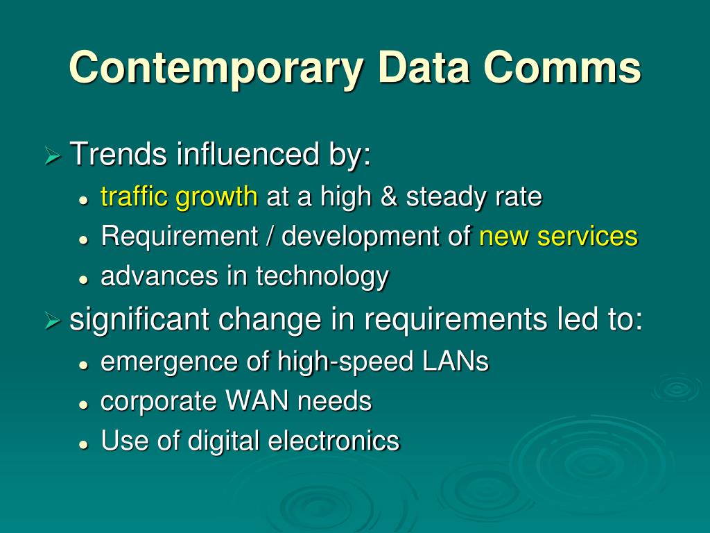 Contemporary Data Comms
