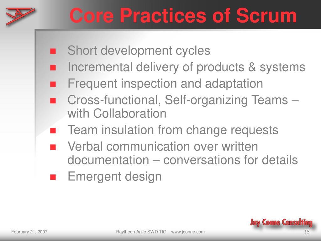 Core Practices of Scrum