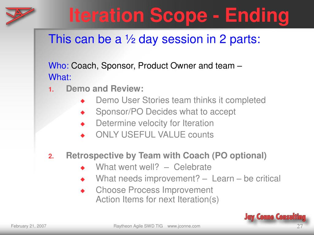 Iteration Scope - Ending