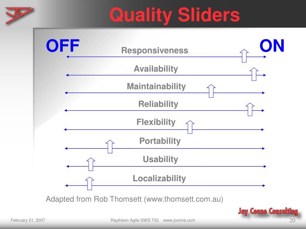 Quality Sliders