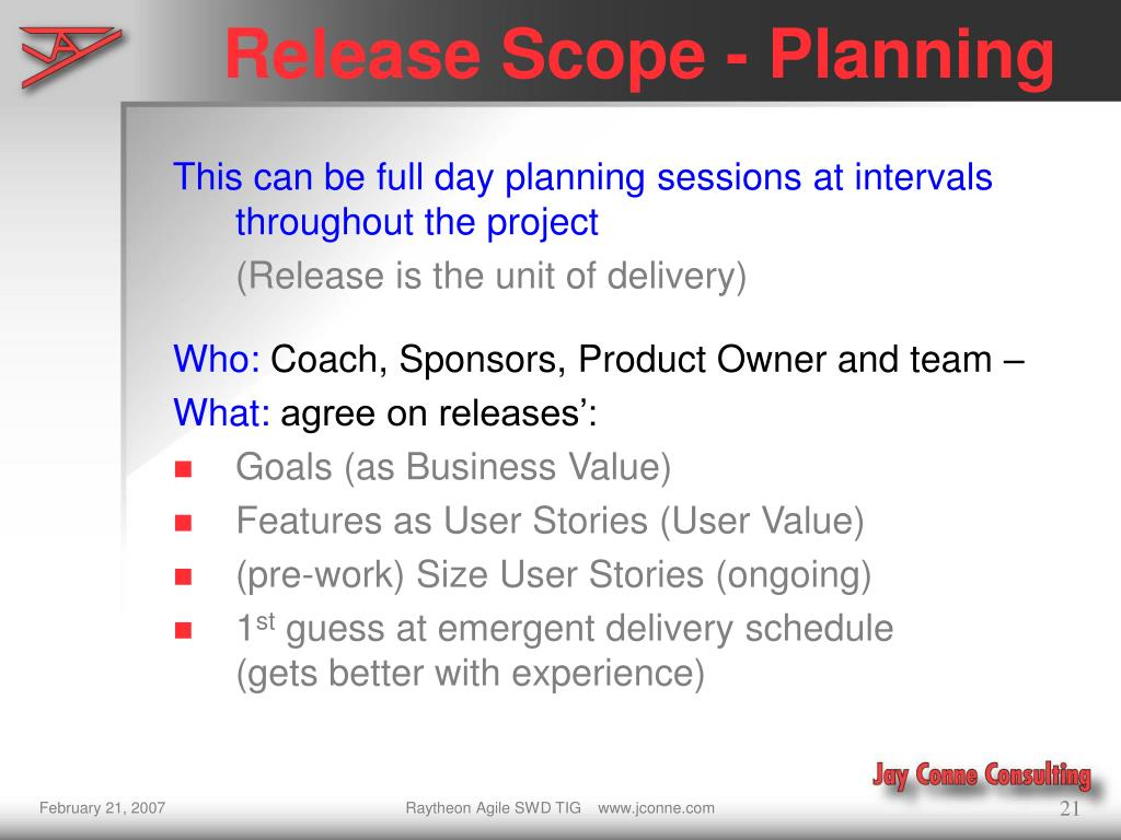 Release Scope - Planning