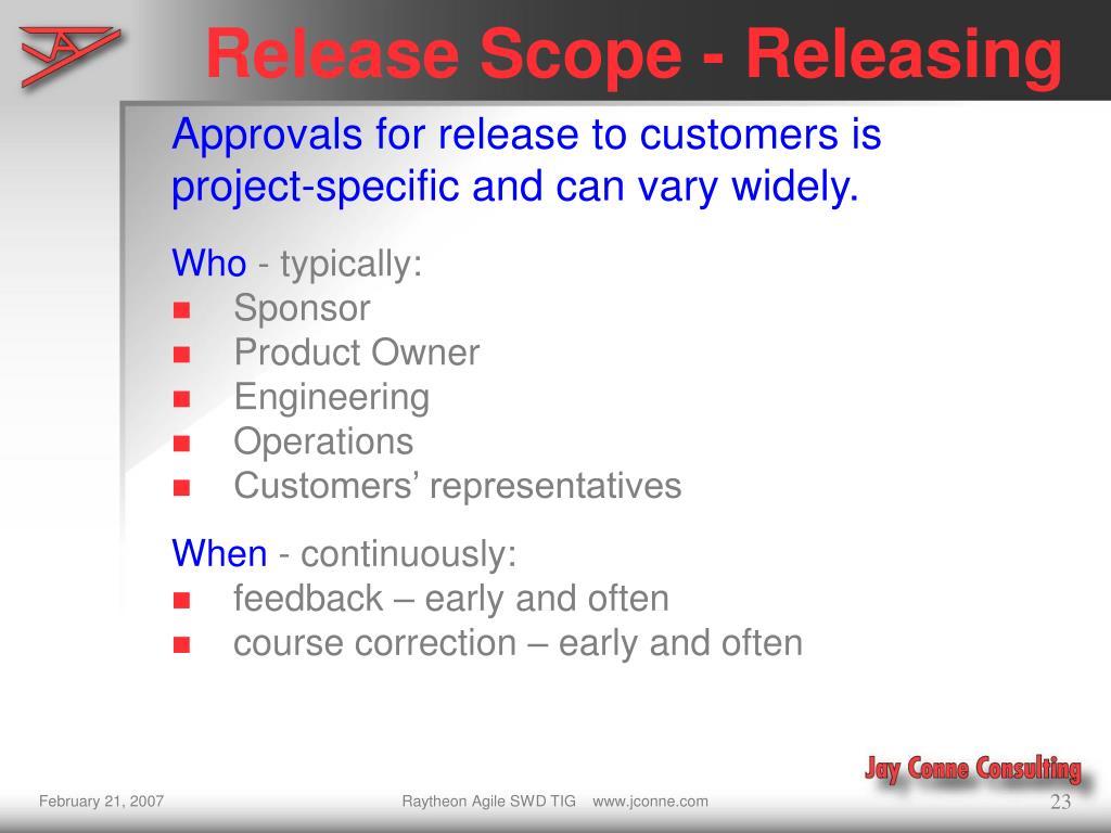Release Scope - Releasing