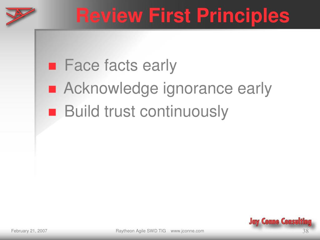 Review First Principles