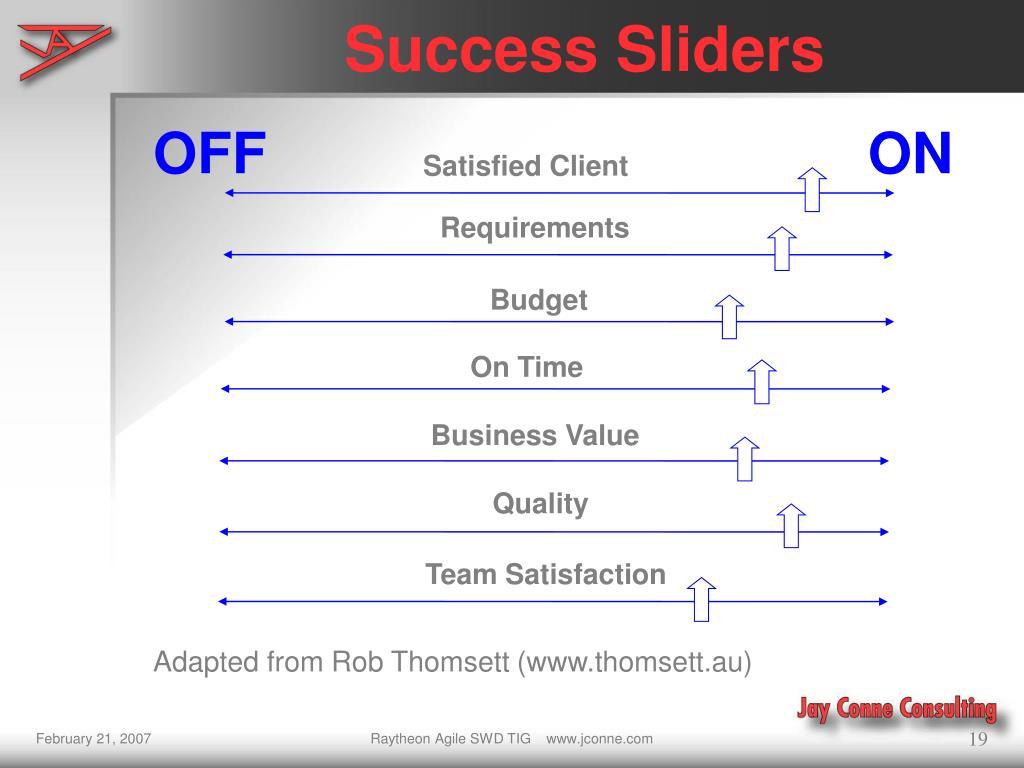 Success Sliders