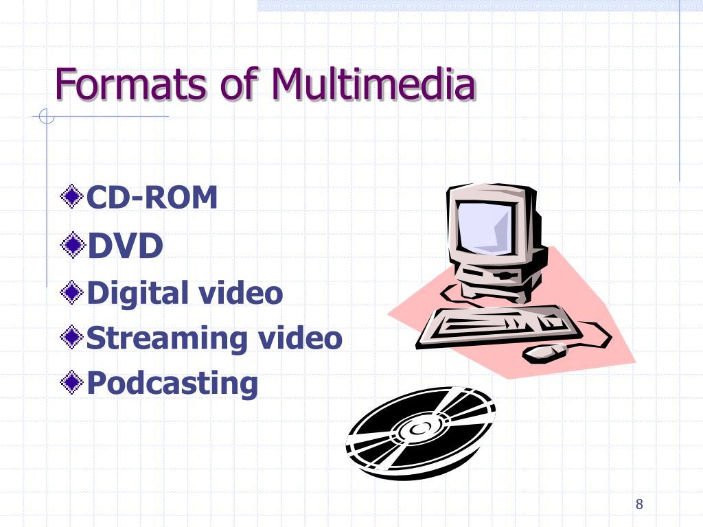 Formats of Multimedia