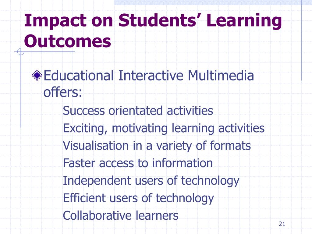Impact on Students' Learning Outcomes