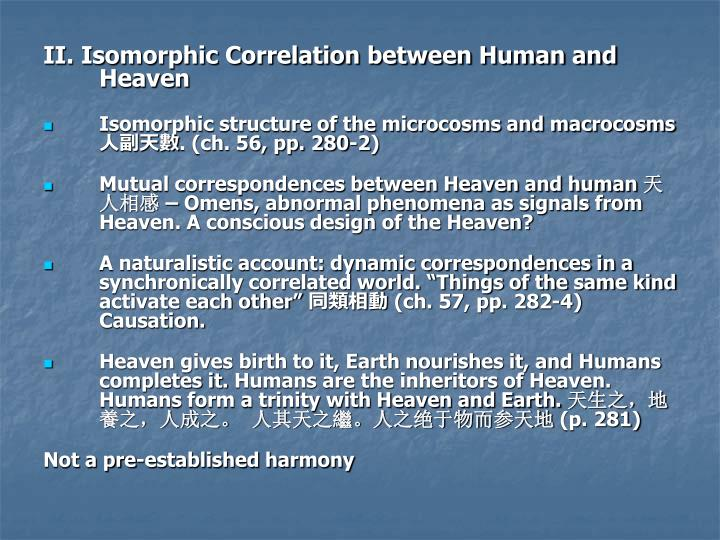 II. Isomorphic Correlation between Human and Heaven