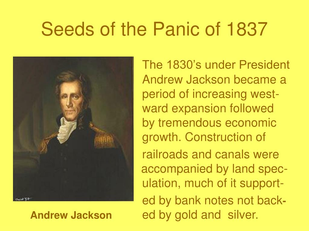 Seeds of the Panic of 1837