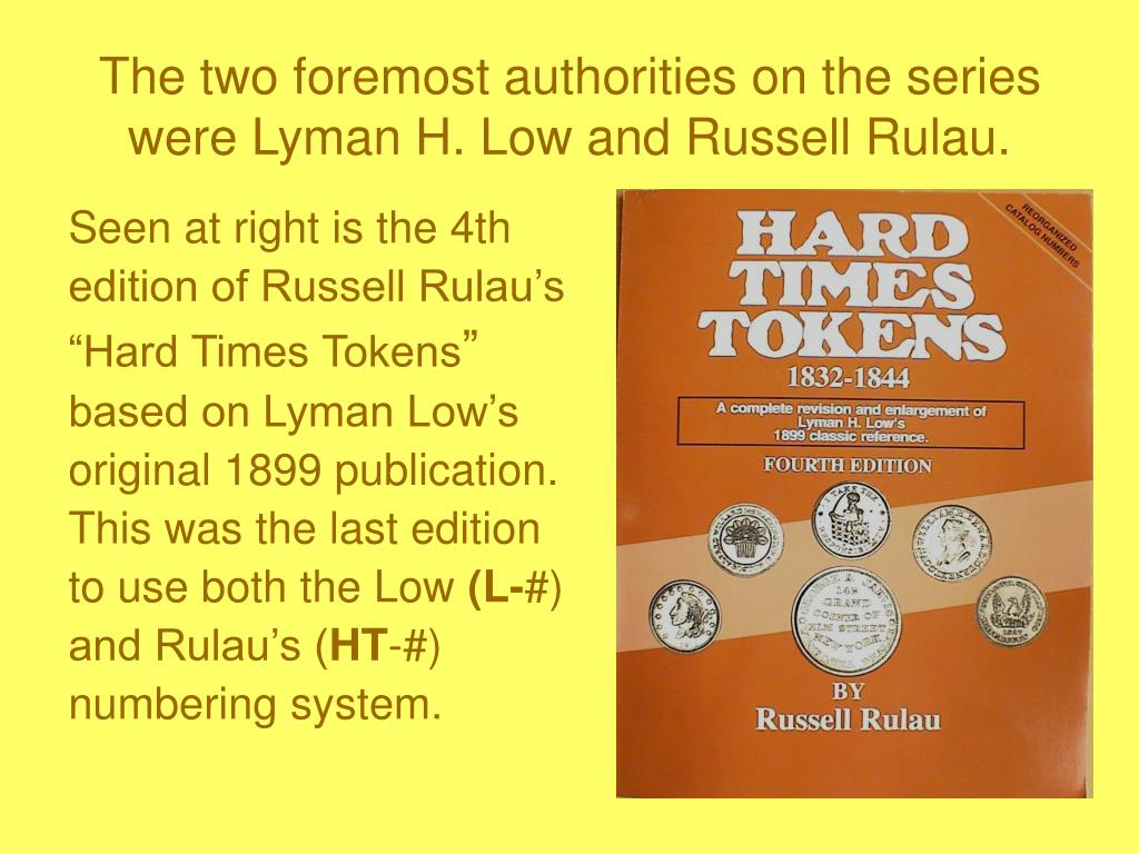 The two foremost authorities on the series were Lyman H. Low and Russell Rulau.