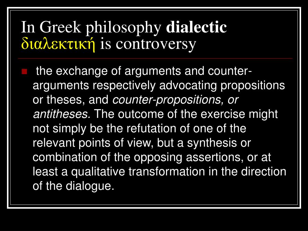 In Greek philosophy