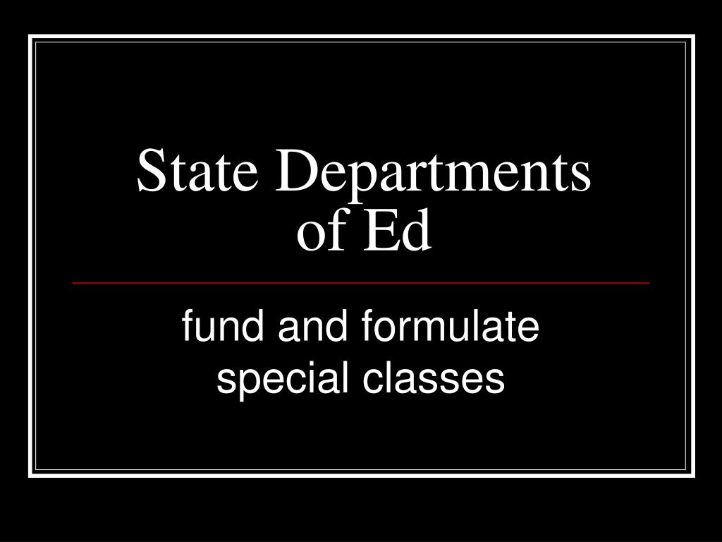 State Departments of Ed