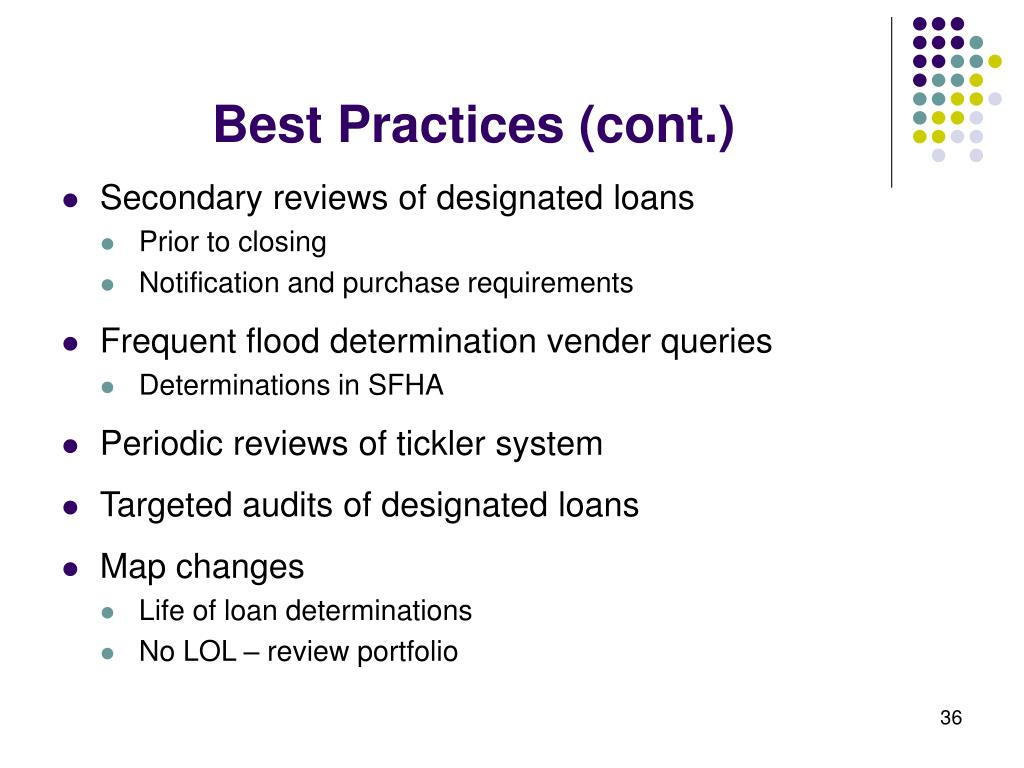 Best Practices (cont.)