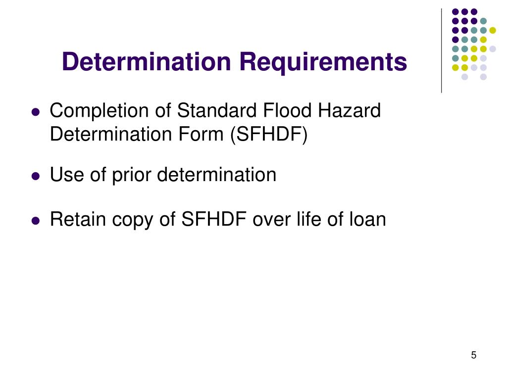 Determination Requirements