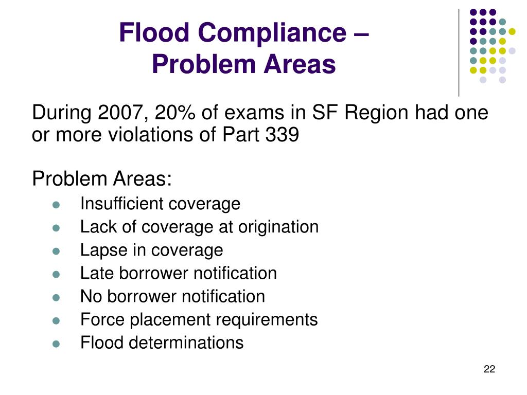 Flood Compliance –