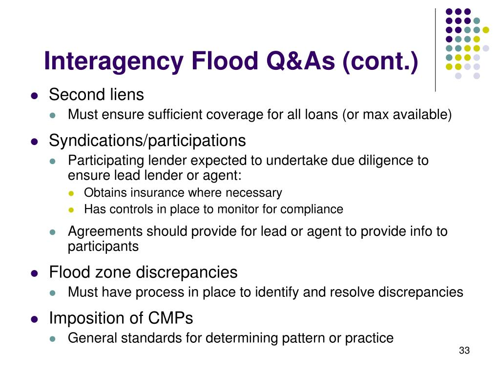 Interagency Flood Q&As (cont.)
