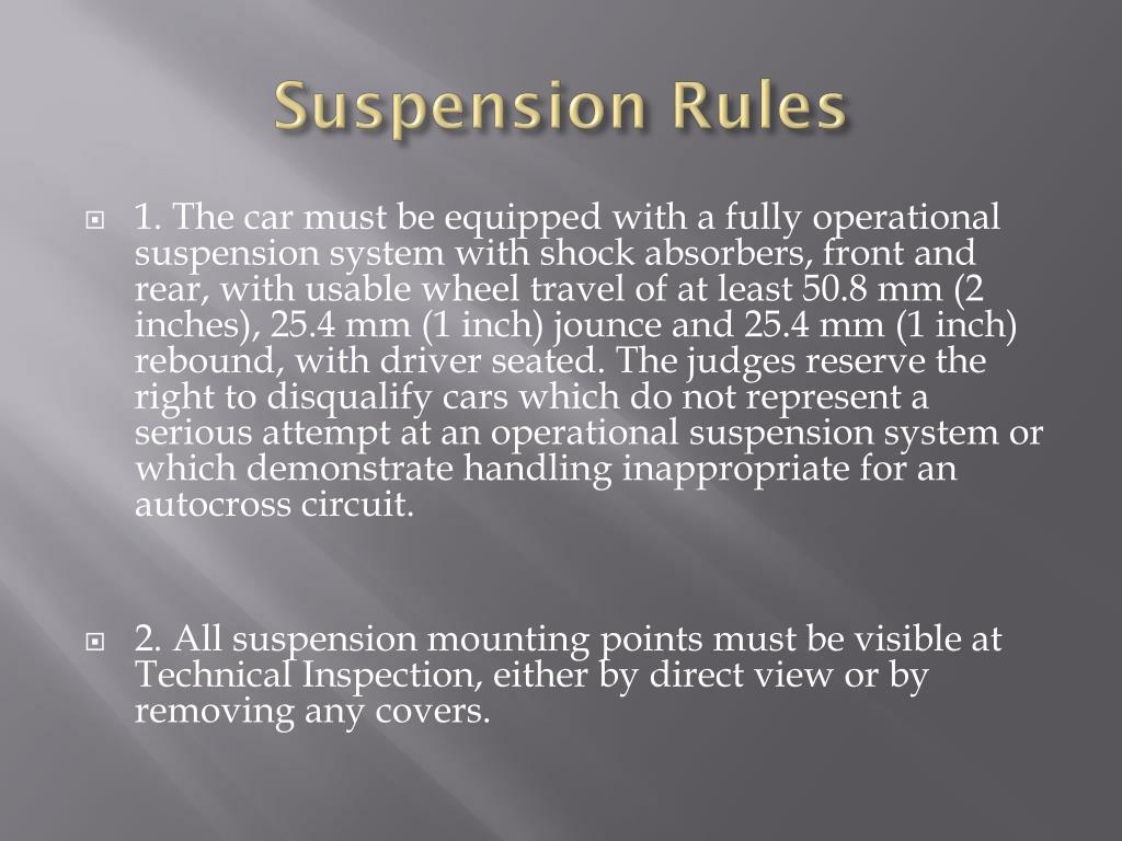 Suspension Rules