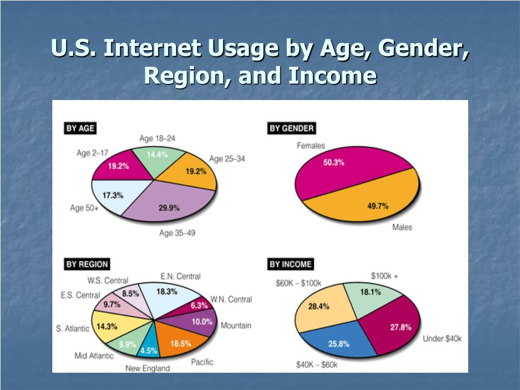 U.S. Internet Usage by Age, Gender, Region, and Income