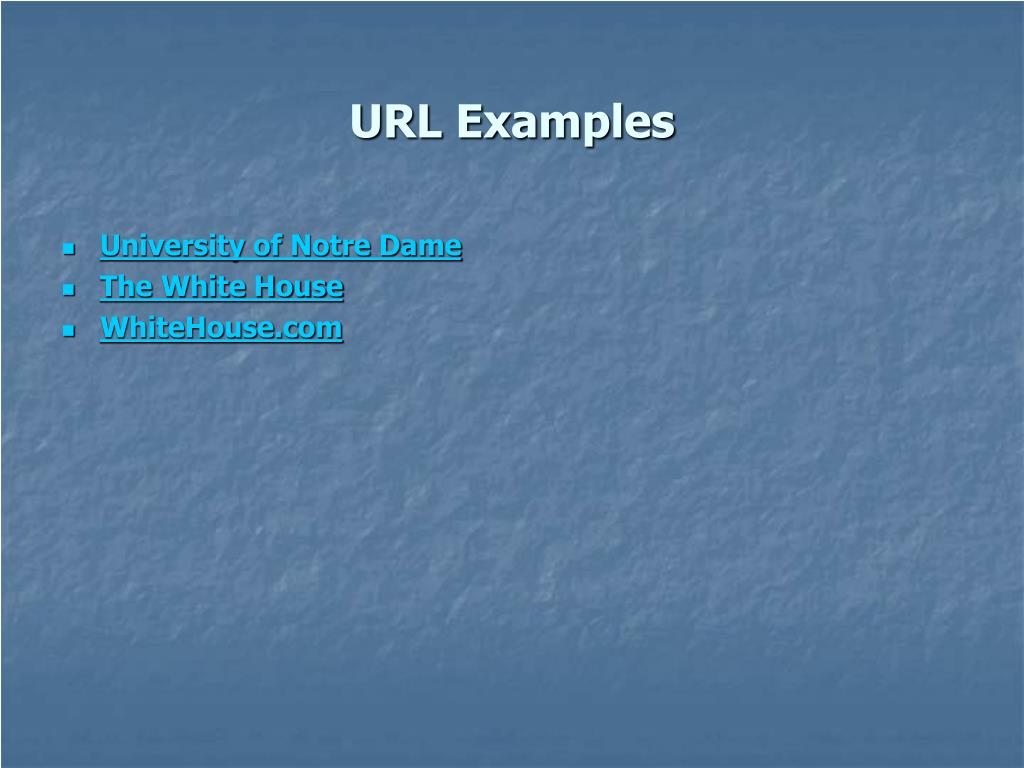 URL Examples