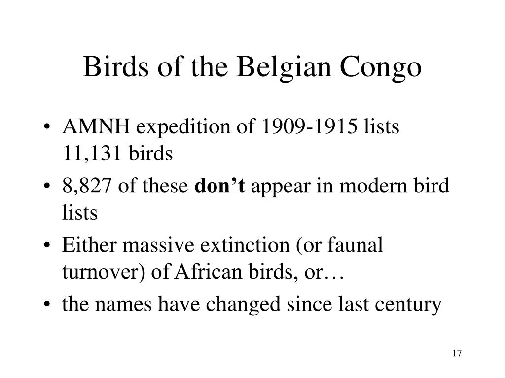 Birds of the Belgian Congo