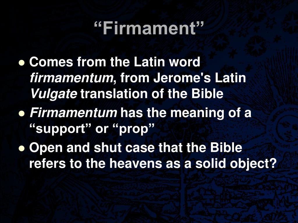 """""""Firmament"""""""