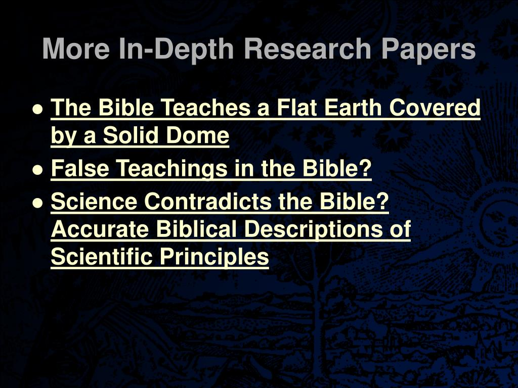 More In-Depth Research Papers