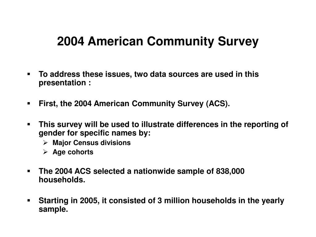 2004 American Community Survey