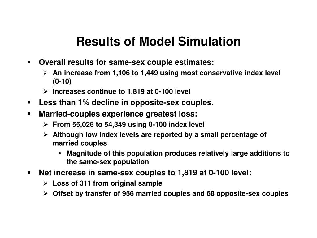 Results of Model Simulation