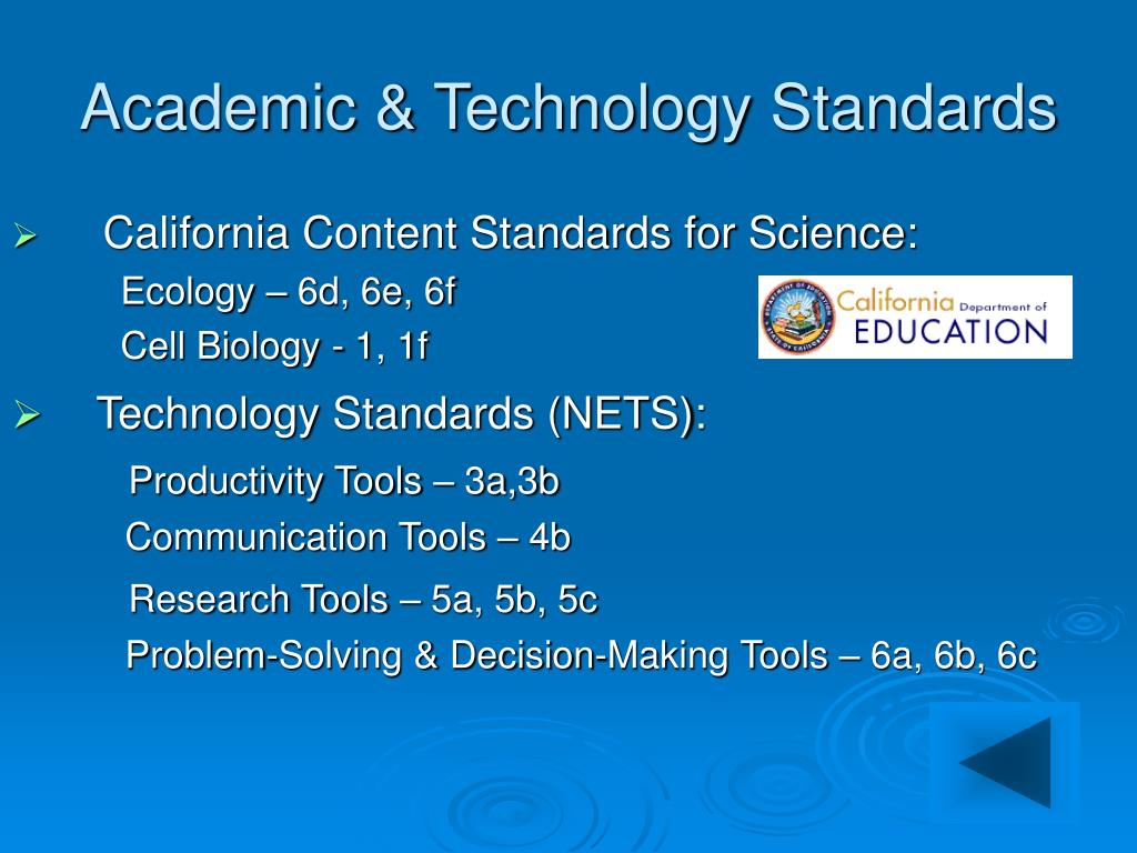 Academic & Technology Standards