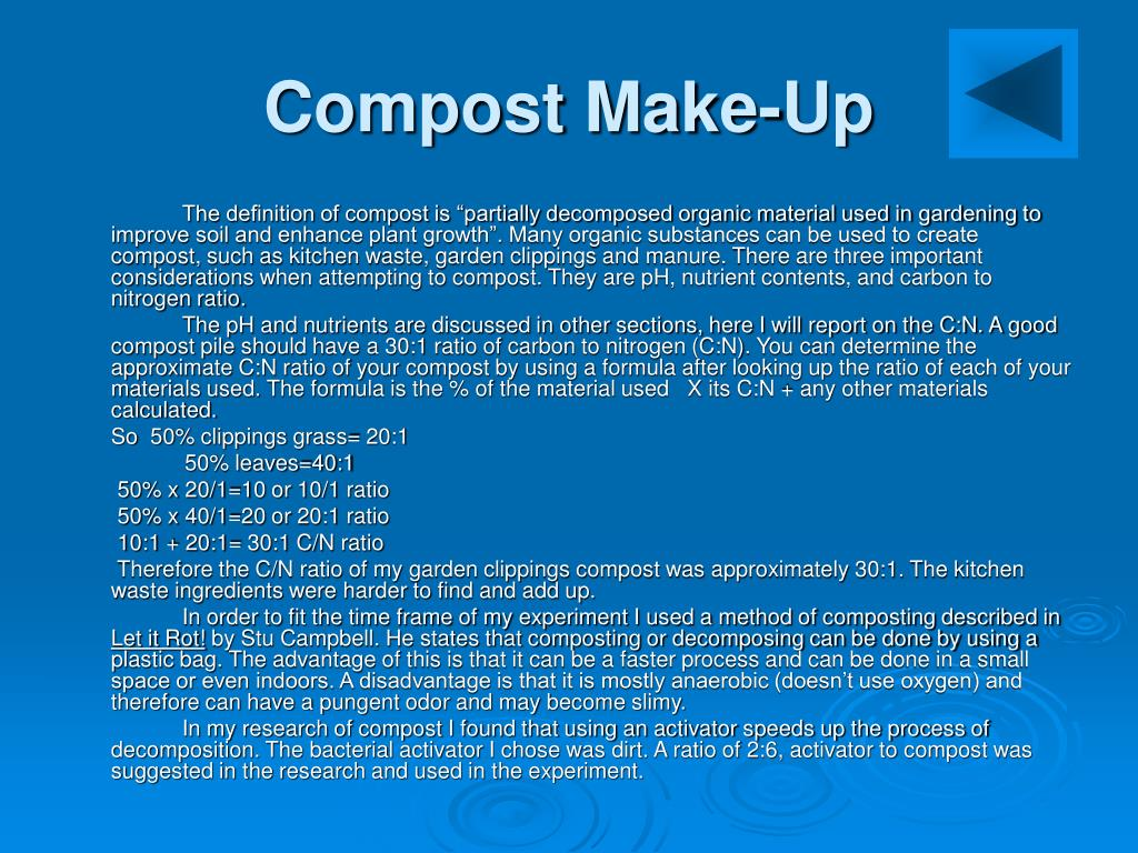 Compost Make-Up
