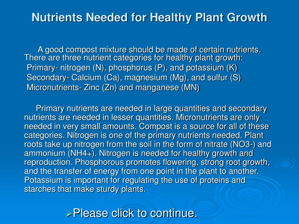 Nutrients Needed for Healthy Plant Growth