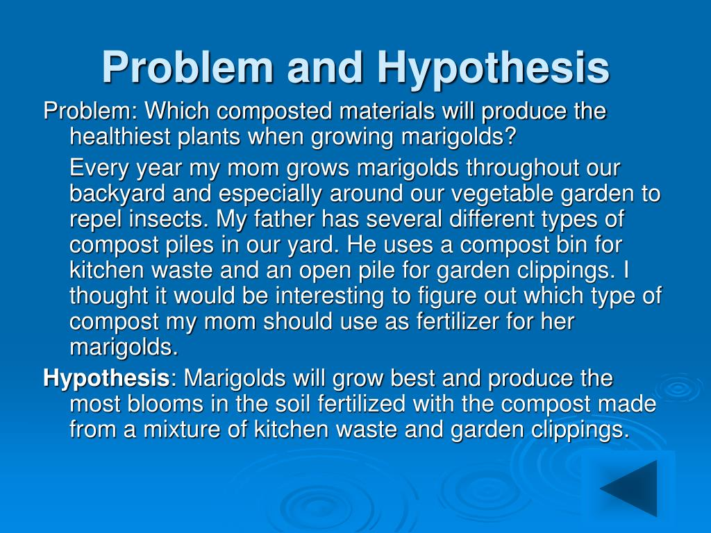 Problem and Hypothesis
