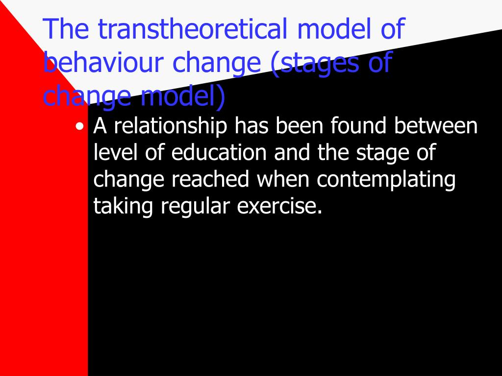 transtheoretical model of behavior change pdf