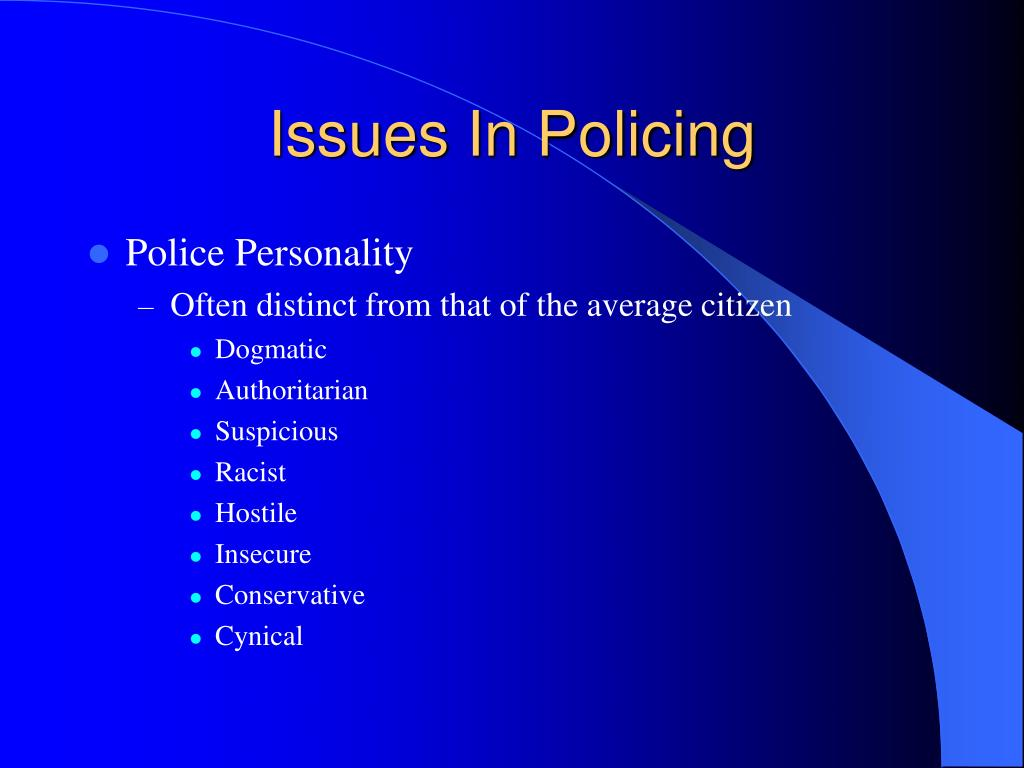 issues and trends in policing police Critical issues in policing series  the police response to homelessness (2018) the changing nature of crime and criminal investigations (2018) the revolution in emergency communications (2017.